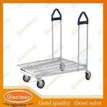 metal wire flatbed cart