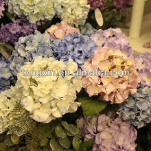 hot sell artificial hydrangea silk flowers wedding wall decoration table centerpiece