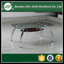 double layers metal steel coffee table MCT-2166