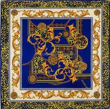 fashional twill printing large square silk scarf