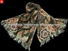 (SUPER DEAL)Wool Embroidery Scarf / Shawl