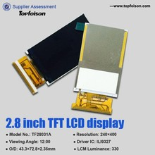 240*400 2.8 inch tft lcd module with MCU interface and lcd tft video display module