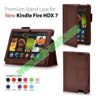 Folio Leather Case for Amazon Kinle Fire HDX 7 with Stand and Pen Holder