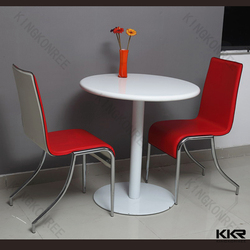 KKR solid surface acrylic fast food dining tables for restaurant