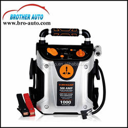 2015 new high quality strong power DC12V 24V battery car jump starter with air compressor