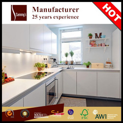 Matt white PVC kitchen cabinet for kitchen cupboard with gond quality 25 years experience