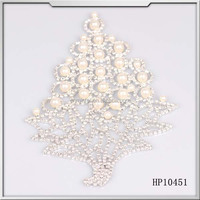 wholesale leaf shape pearl bedaded silver crystal rhinestone applique trimming patches sewing on wedding dresses