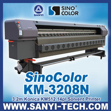 Large Format Banner Printing Machinery With KM512 -14 Heads, Sinocolor KM3208N, For Flex Printing,1440DPI