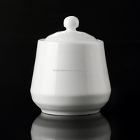 Wholesale white porcelain sugar jar ,white jar ,with lid for kitchen & resaurant .
