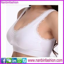 Nanbinfashion sesamless white yoga sports girl tube sexy bra