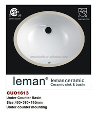 CUO1613 Ceramic 18'' Oval Under Counter Basin Made in China With CSA/UPC Certificate/Approved Bathroom undermount Wash Basin