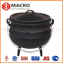 three legs full set cast iron stew potjie pot
