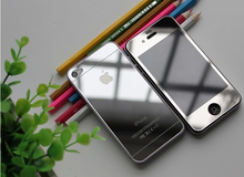 HOT Sale Front+Back Colorful Mirror Premium Real Tempered Glass Film Guard Screen Protector For iPhone 5 5S