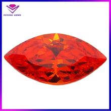 Hot Sale AAA Marquise Loose Diamond Stone Man Made Fake Gemstones In Wuzhou