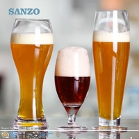 SANZO Novelty Hot Selling Tulip Shaped Beer Glass on Sale