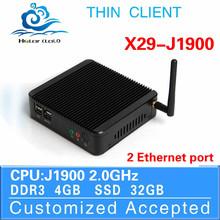Fanless Design Mini PC X86 Board computer Intel J1900 Mini pc Thin Client Celeron desktop 4G RAM 32G SSD