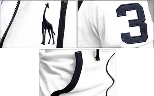 Новая весна & Осенняя Новинка Жираф печати тату верхняя одежда Толстовки одежда men.boys Спорт костюм открытый бренд