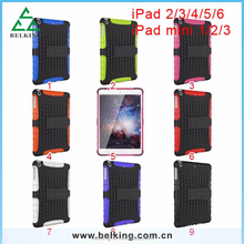 Armor shock proof case for ipad 6 5 4 3 2 back cover, tablet case for ipad mini 3 2 1