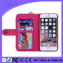 Luxury Leather Cell Phone Accessory For Iphone 5 Case With Card Holder