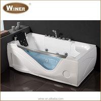 2015 White oval shaped freestanding acrylic bath tub cheap glass whirlpool sex massage bathtub price