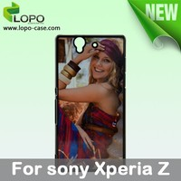 Best price blank sublimation phone case for Sony Xperia Z with Aluminum insert