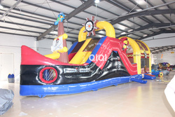 Pirate ship giant inflatable obstacle course for sale