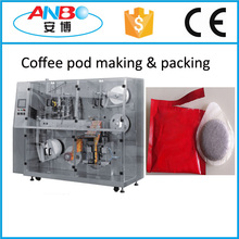 Coffee pod packing machine, coffee pod packaging machine, pod coffee machine