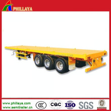 Vietnam Import 2-4Axles Container Trailer Truck Semi Trailers Deck Chassis Optional