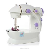 White & Purple Handheld Plastic Household Mini Portable Sewing Machine