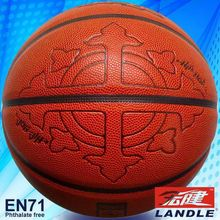 High quality made in china 12 panels PU basketball indoor pu leather basketball