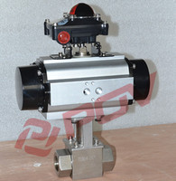 pneumatic thread high pressure valves with limit switch