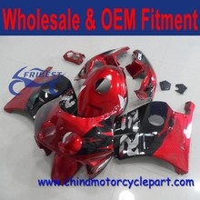 For HONDA MC22 CBR250RR CBR250 RR CBR 250 RR FAIRING KIT RED AND BLACK COLOR