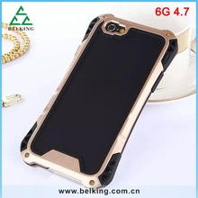 High Quality Hybrid Aluminum Case For iPhone 6, For iPhone 6 Slim Shock Proof Case