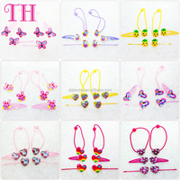 factory manufacturer kids ponytail holders hair accessories with beads