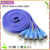 Millionwell audio video 3RCA to 3RCA cable,rca to rca cable for tv