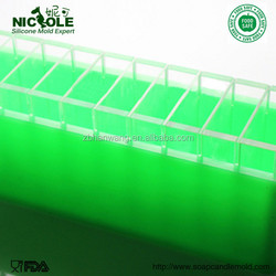 Nicole D0008 Flexible Soft Handmade Silicone Loaf Soap Molds With Divider