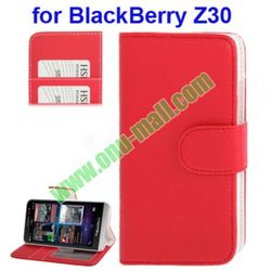 Lichee Texture Flip Pattern PU Leather Case for BlackBerry Aristo Z30 with Credit Card Slots and Holder