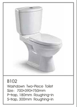 B102Hot Sale Round Toilet Bowl China One Flush Toilet Supplier One Piece Toilet Parts Factory