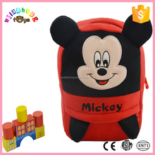 Children Carton School mickey Bag Shenzhen OEM Soft Plush Baby Doll With Hair For Promotional bag