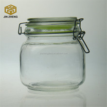 Clip Top Clear Glass Airtight Spice Food Herb Storage Jars wholesale