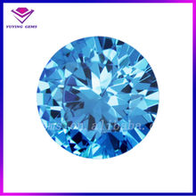 AAA star cut cubic zirconia wholesale light blue round 1.5mm CZ stone for jewelry
