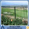 5ft high 3 rails welded residential ornamental metal fence