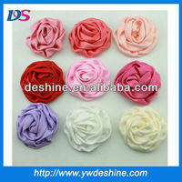 New design DIY rose satin ribbon handmade flowers H-261
