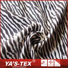 Newly fashion elastic polyester zebra printed fabric for dress