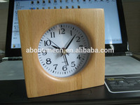 Handemade quartz analog wood table clock/decoration clock/cheap alarm clock