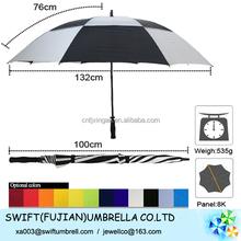 windproof golf umbrella two layers soccer club umbrella manufacturers