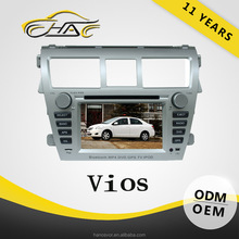 For toyota vios car radio with usb port mp3 player touch screen wince6.0 gps navigation