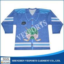 Custom made quick dry ice hockey jerseys