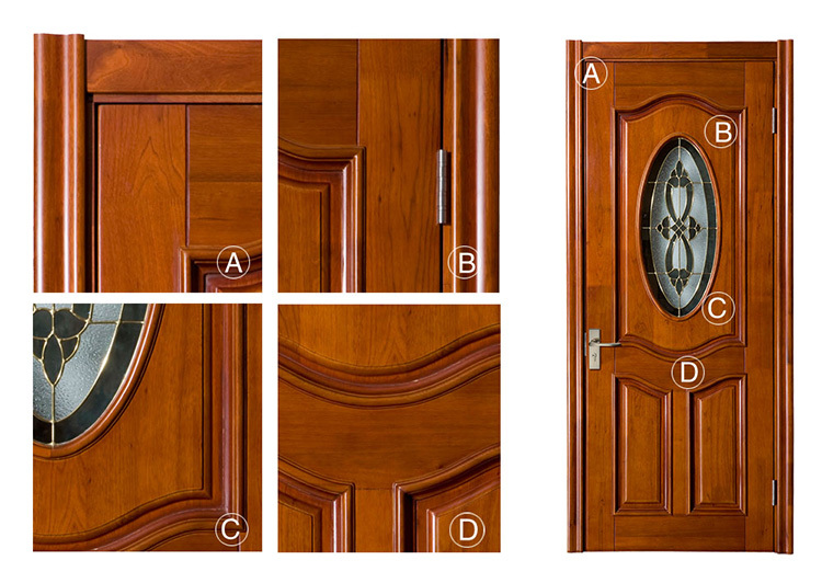 Puertas madera y cristal gallery of puerta madera y for Modelos de puertas de madera para dormitorios