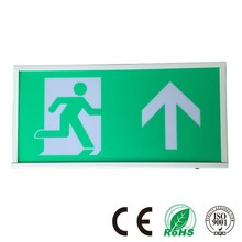 Battery Powered Emergency Exit Sign, Maintained Channel Emergency Lighting